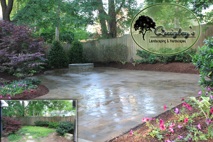 Backyard Nashville home with Belgard Paver patio.