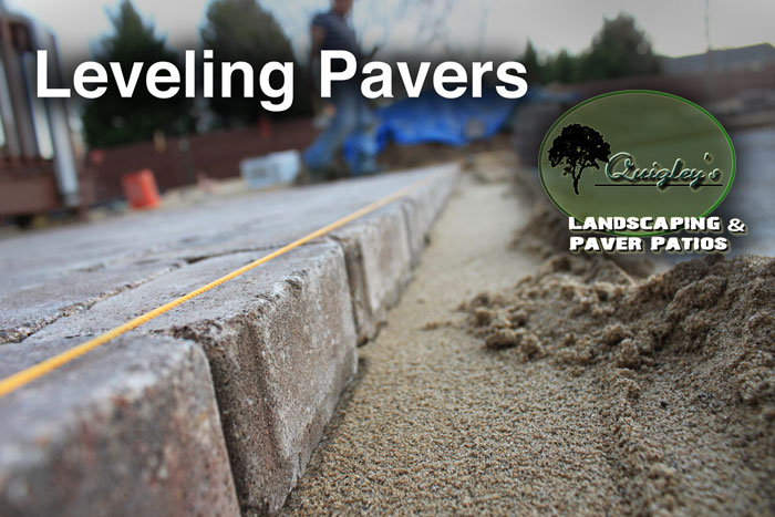 Leveling-Pavers on projects for patios