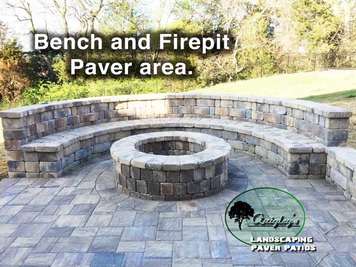 Nashville-Paver-Bench-firepit, Brentwood, Franklin, Spring Hill, Nolensville TN.